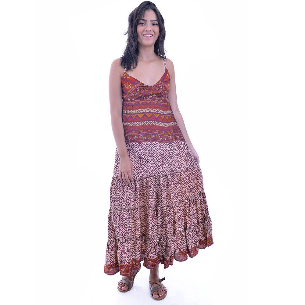 Vestido Indiano Vermelho