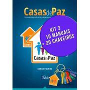 Kit 3 - 10 Manuais Casas de Paz e 20 Chaveiros - Danilo Figueira - Selah Produções