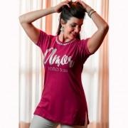 Camiseta Feminina Amor em Prata - Rosa com Pedras - Soul da Paz