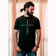 Camiseta Masculina Jesus Cristo - Preta- Soul da Paz