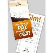 Convite Casa de Paz - 200 un - 4x4 cores - 10x21cm - Selah Produções