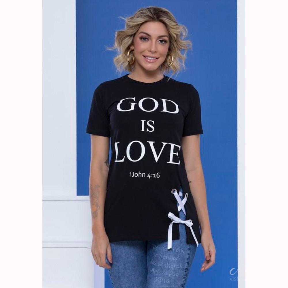 Blusa Feminina God is Love - Mônica Figueira - Soul da Paz