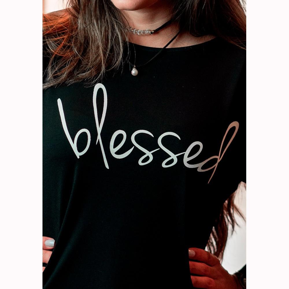 Camiseta Feminina Blessed Manga Flair - Soul da Paz