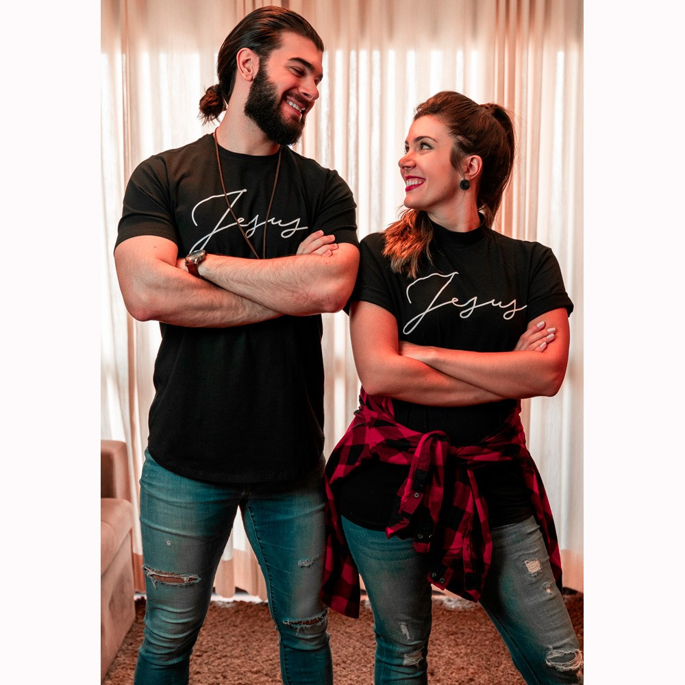 Camiseta Masculina Jesus - Preta - Soul da Paz