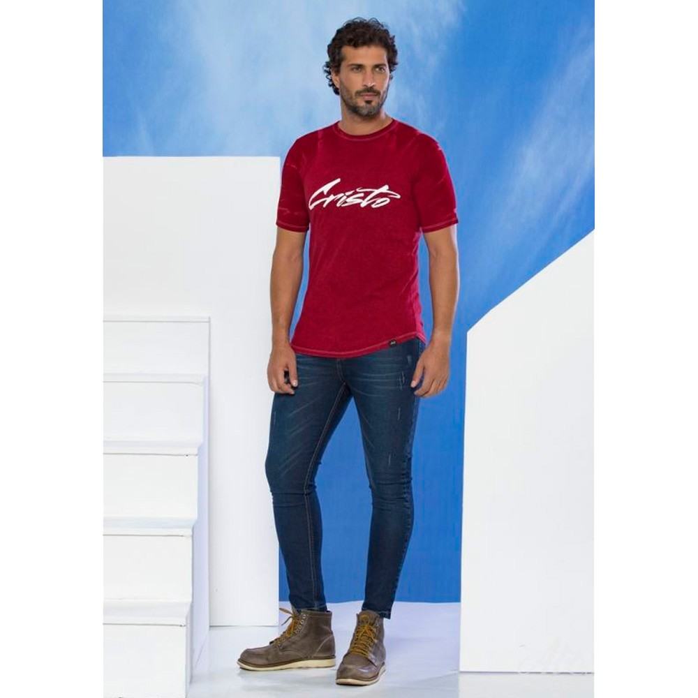 Camiseta Unisex Cristo - Vinho - Soul da Paz