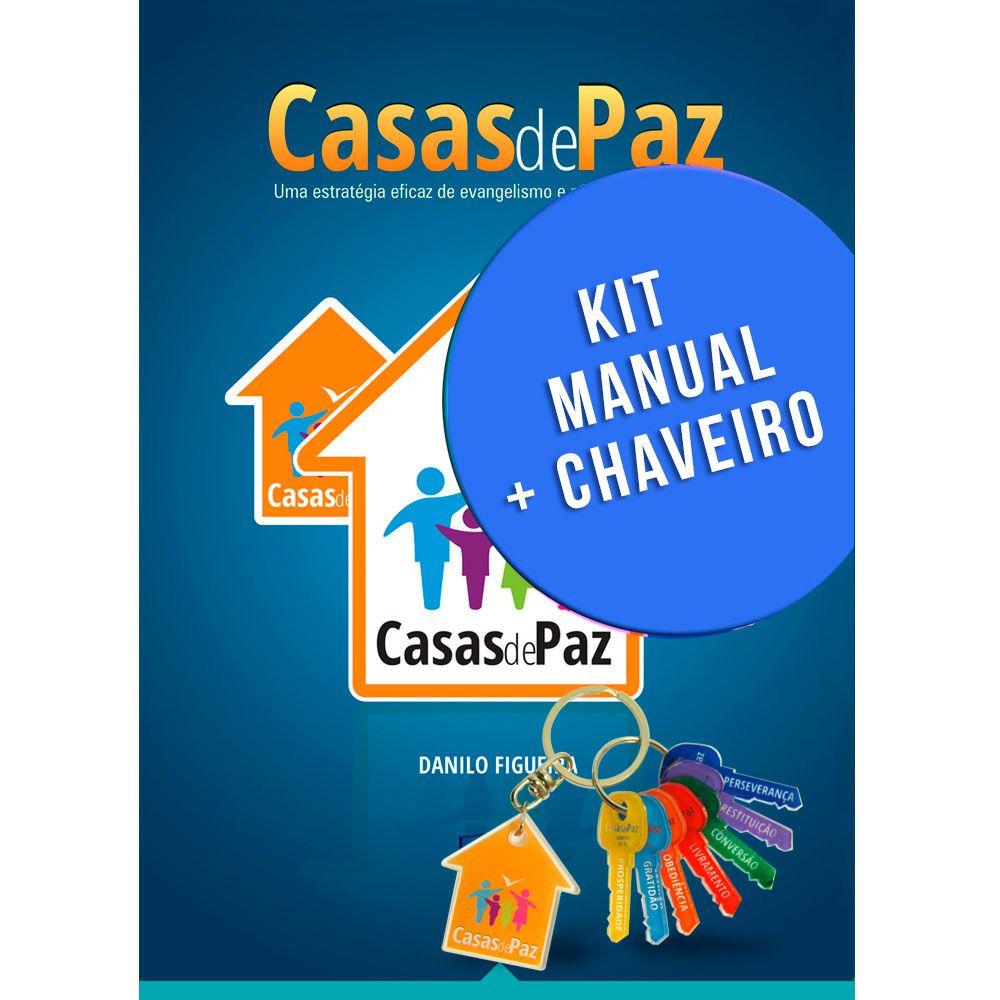 Kit 4 - 20 manuais Casas de Paz  e 10 Chaveiros - Danilo Figueira - Selah Produções