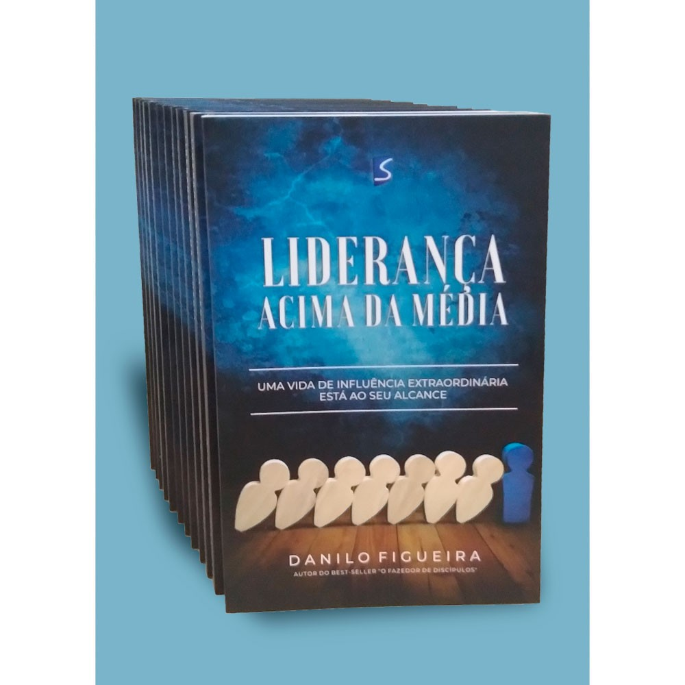 Livro Liderança Acima da Média - Atacado - Danilo Figueira - Selah Produções - 24 unidades