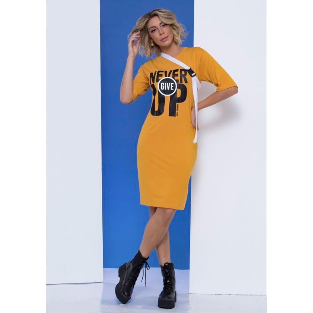 Vestido Never Give Up - Amarelo- Mônica Figueira - Soul da Paz