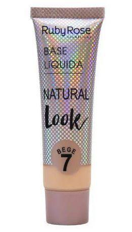 Base Liquida Natural Look Bege Cor 7
