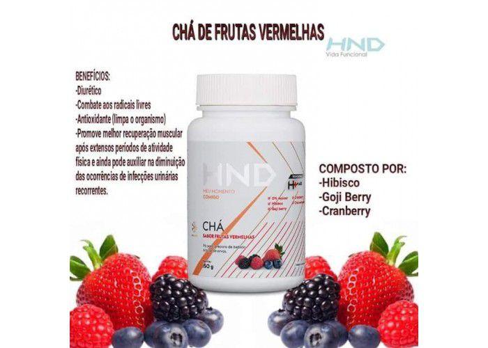 CHÁ H+ FRUTAS VERMELHAS