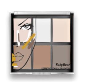 Paleta Corretivo Concealer Contour Ruby Rose Fair