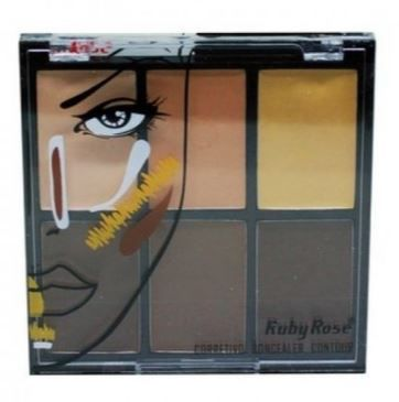 Paleta Corretivo Concealer Contour Ruby Rose Light