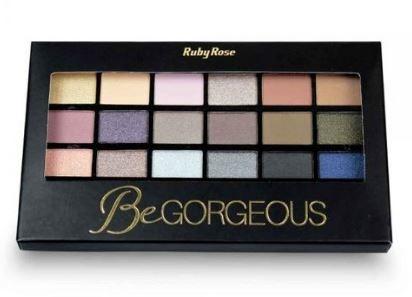 Paleta de Sombras BeGorgeous 18 cores Ruby Rose