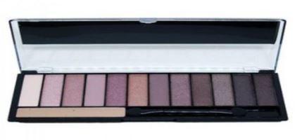 Paleta de Sombras Blushed Nude 12 cores com Primer Ruby Rose