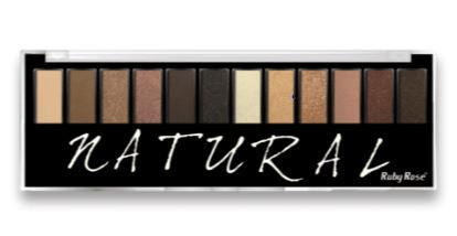 Paleta de Sombras Natural 12 cores com Primer Ruby Rose