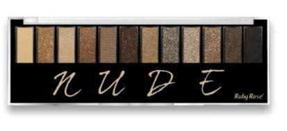 Paleta de Sombras Nude 12 cores com Primer Ruby Rose