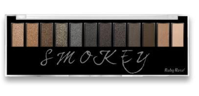 Paleta de Sombras Smokey 12 cores com Primer Ruby Rose