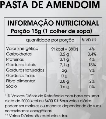 PASTA DE AMENDOIM INTEGRAL COM CACAU