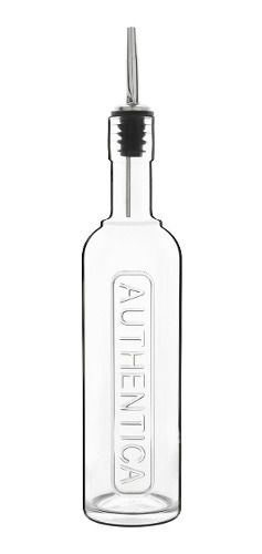 Garrafa Vidro Água Suco 0,5 L Bico Inox Optima - L. Bormioli