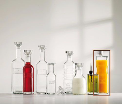 Garrafa de Agua e Suco Luigi Bormioli em Vidro 1 L Optima Juice
