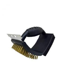 Escova Para Grelha e Churrasqueira Limpeza com Cerdas de Cobre Prana