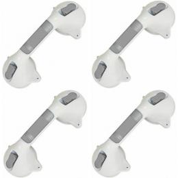 4 Barras de Apoio para Banheiro com Ventosa Segurança p/Idosos Prana