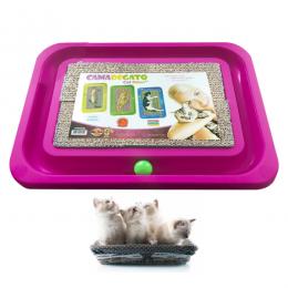 Arranhador Gatos e Bolinha Brinquedo Cat Relax M Furacão Pet