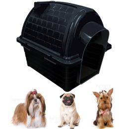 Casa Pet Casinha Cães Iglu Nº 1 Black 2 peças Furacão Pet