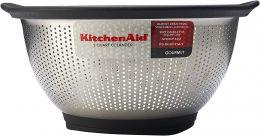Escorredor de Arroz Multiuso Aço Inox 5 L KitchenAid com Base Antiderrapante