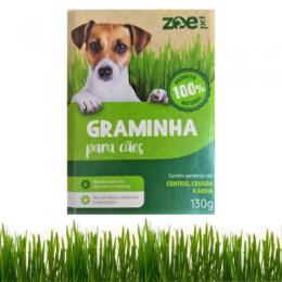 Graminha para Cachorro natural Zoe Pet auxilia digestão e intestino