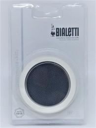 Kit 1 borracha e filtro para Cafeteira Inox Vênus 10 xícaras Bialetti