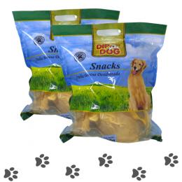 Kit 1 Kg Mordedor Orelha Bovina Natural Cachorros Dip Dog