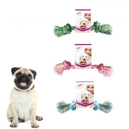 Kit 3 Brinquedos Dental Bone P Cachorros Corda Furacão Pet