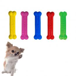 Kit 5 Brinquedos Osso Mordedor Borracha P Plaque Furacão Pet