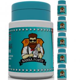 Pó Modelador Barba Forte Powder Wax Hipster 15 g Kit 5 Unidades