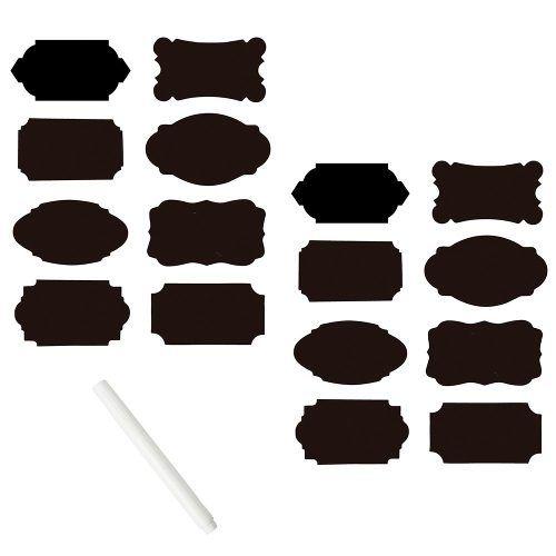 Conjunto com 16 adesivos marcadores para potes com caneta Prana