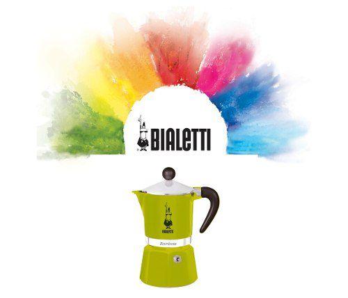 Cafeteira Italiana Verde Rainbow 3 Xícaras Bialetti