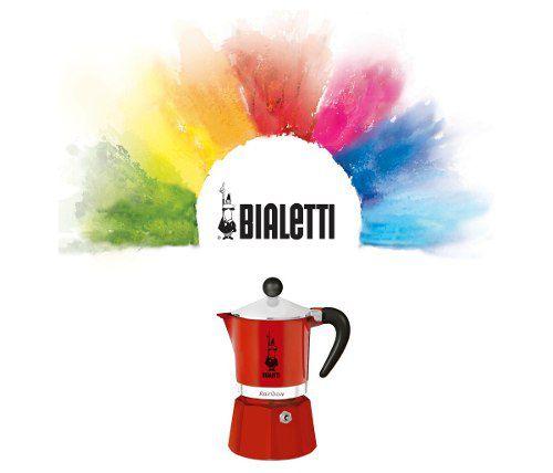 Cafeteira Italiana Vermelha Rainbow 3 Xícaras Bialetti