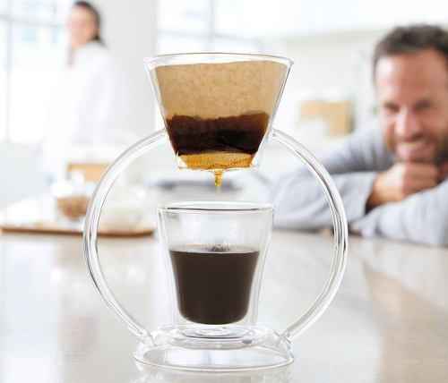 Kit Café Coador Com Copo Em Vidro Duo E Acessórios Leonardo