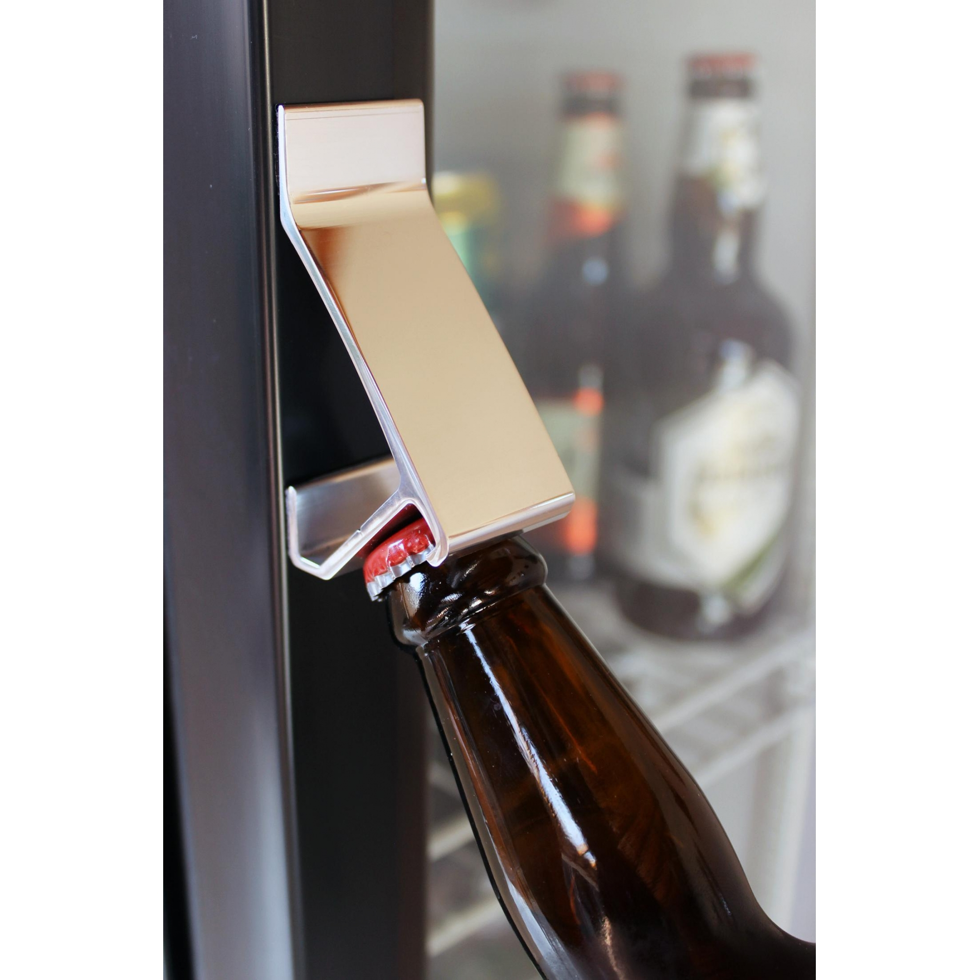 Abridor de garrafa de parede Fixo com imã TSSS Polido Abra