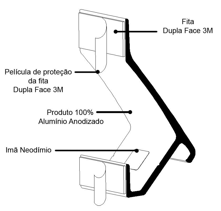 Abridor De Garrafa Ímã de Parede Tsss Vaquinha Preto