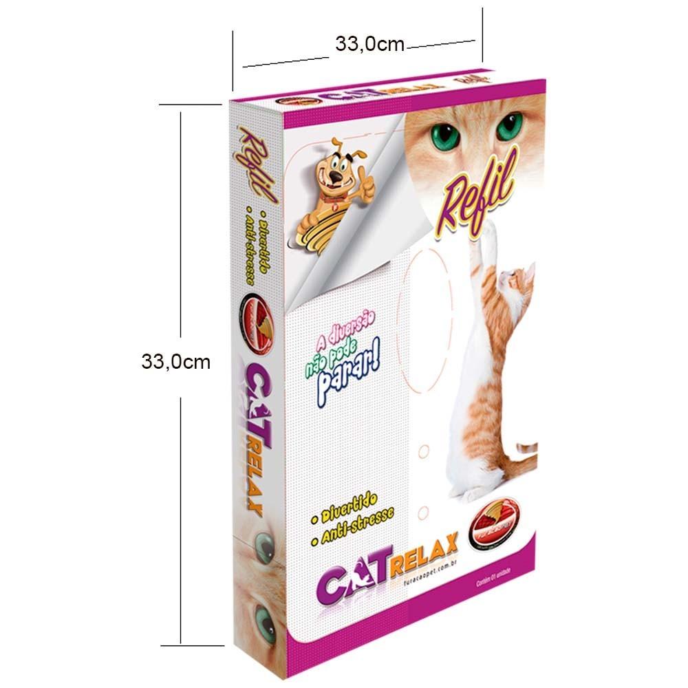 Arranhador Gatos Brinquedo Cat Relax M + 1 Refil Furacão Pet