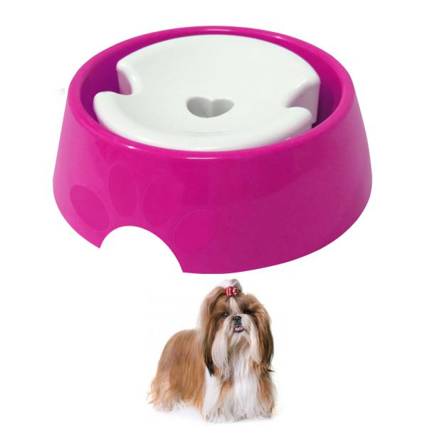 Bebedouro para Cães Pelos Longos Shitzu 1 Litro Furacão Pet