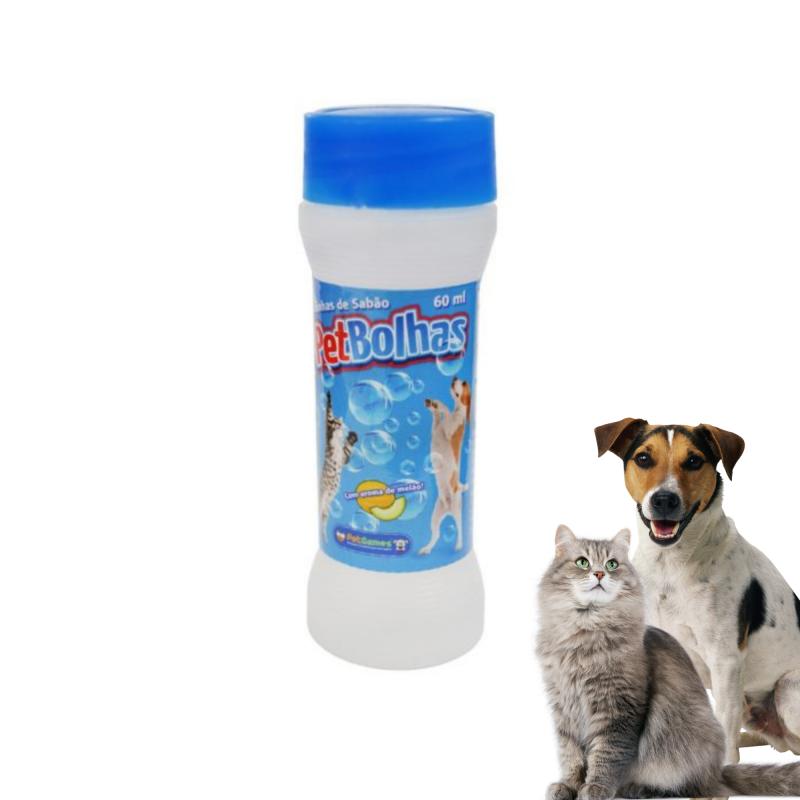 Bolhas De Sabão P/ Cães E Gatos Aroma Melão Pet Games