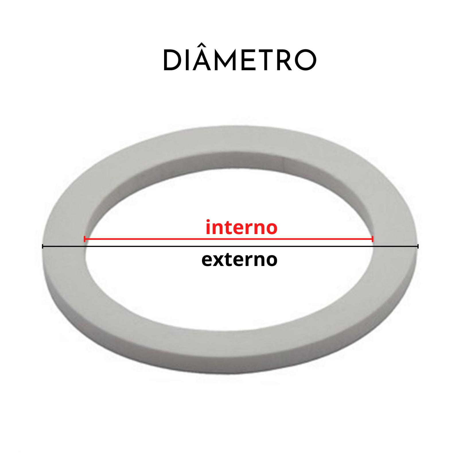 Borrachas para Cafeteira Italiana Bialetti 6 xícaras Kit 3 Peças