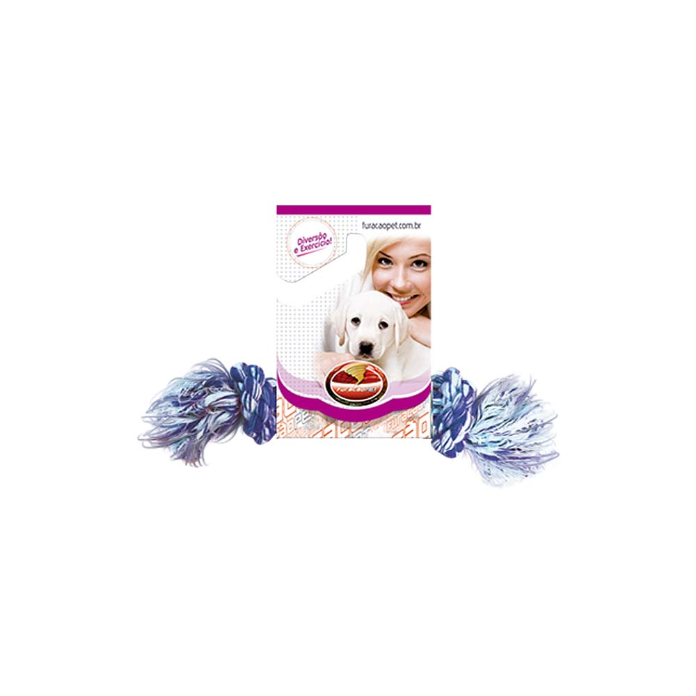 Brinquedo Mordedor Corda Dental Bone P Cães Furacão Pet