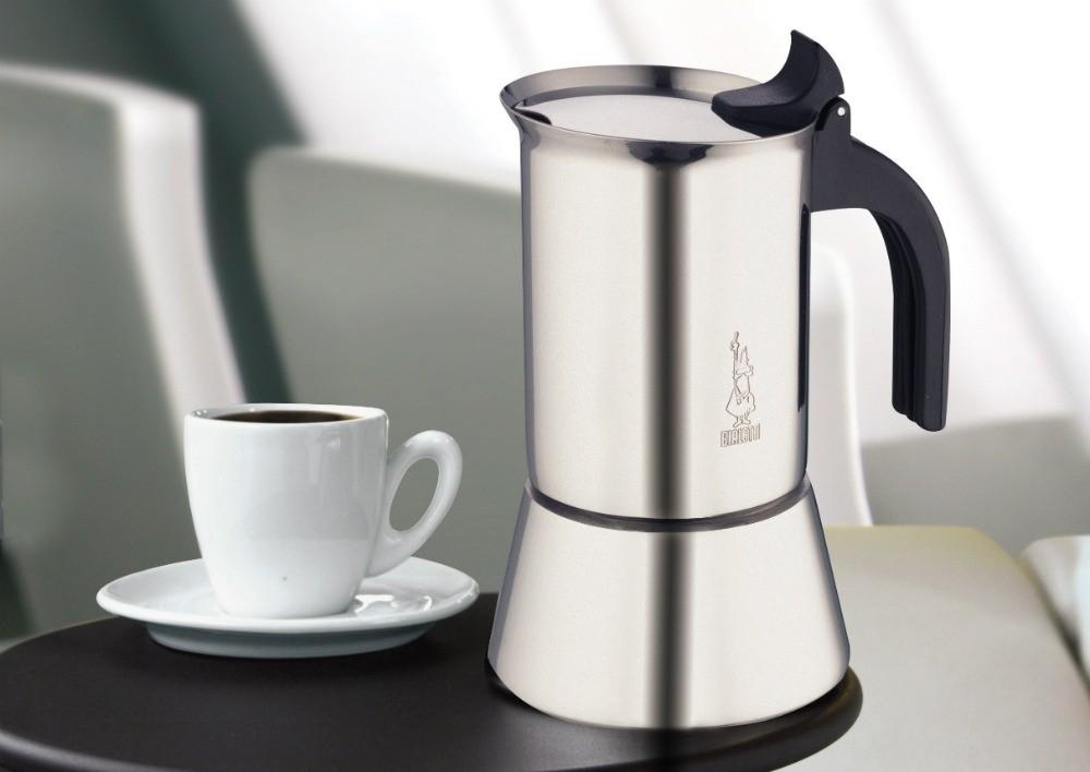 Cafeteira Italiana de Indução de Inox Vênus 10 xícaras Bialetti