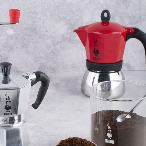 Cafeteira Italiana Moka induction Vermelha Fogão de indução 3 xícaras Bialetti
