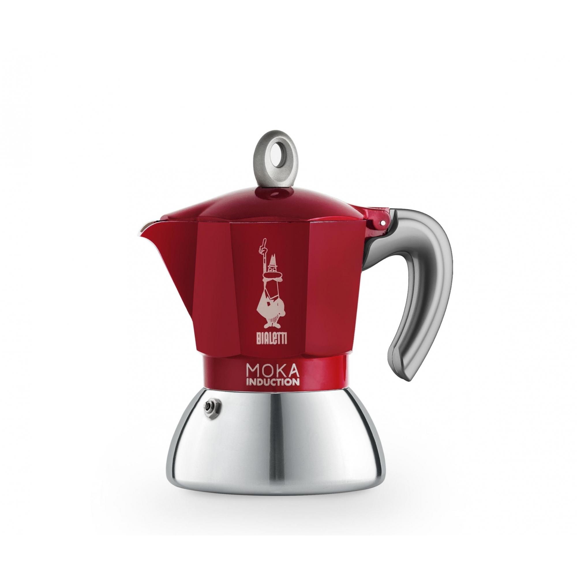 Cafeteira Italiana Moka Induction Vermelha Fogão de indução 6 xícaras Bialetti