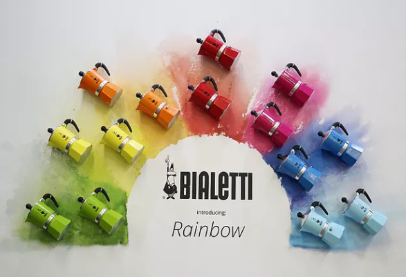 Cafeteira Italiana Rainbow Amarela 3 Xícaras Bialetti